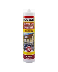 Soudal Universeel silicone wit 310ml